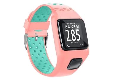 TomTom 1 universeel horlogeband roze - mintgroen