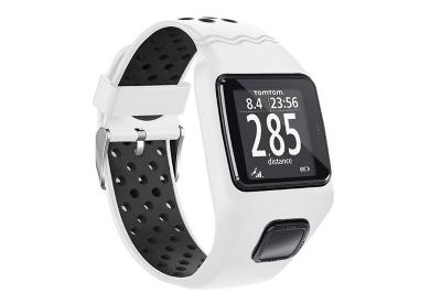TomTom 1 universeel horlogeband wit - zwart