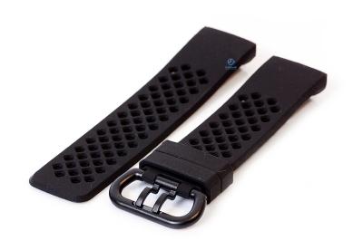 Fitbit Charge 3 perforated horlogeband zwart