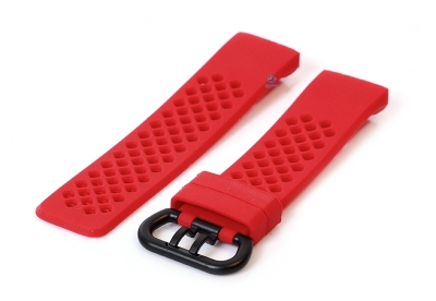 Fitbit Charge 3 perforated horlogeband rood