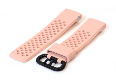 Fitbit Charge 3 perforated horlogeband roze