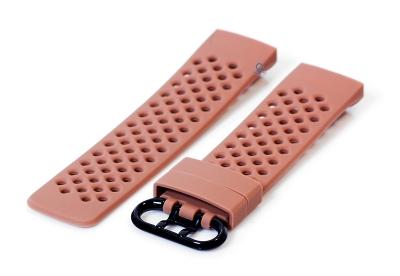Fitbit Charge 3 perforated horlogeband bruin