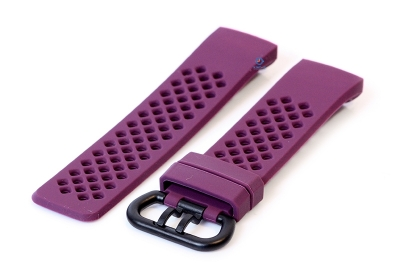 Fitbit Charge 3 perforated horlogeband paars