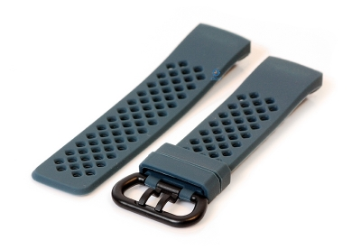 Fitbit Charge 3 perforated horlogeband donkergrijs