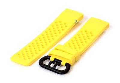 Fitbit Charge 3 perforated horlogeband geel