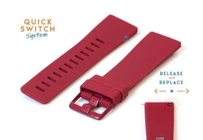 Fitbit Versa horlogeband siliconen wijnrood (S)