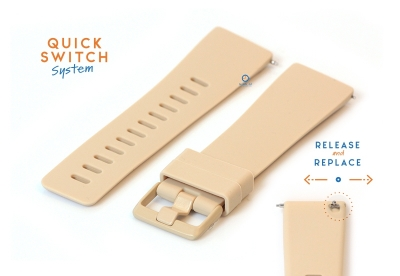 Fitbit Versa horlogeband siliconen nude (S)