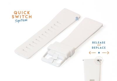 Horlogeband 23mm siliconen wit