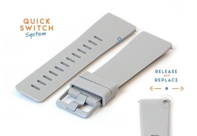 Horlogeband 23mm siliconen grijs