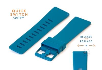 Horlogeband 23mm siliconen zeegroen