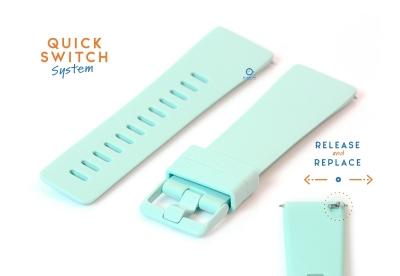 Horlogeband 23mm siliconen pastel mintgroen