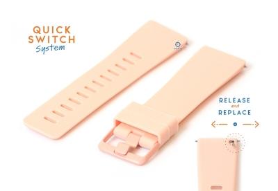 Horlogeband 23mm siliconen roze