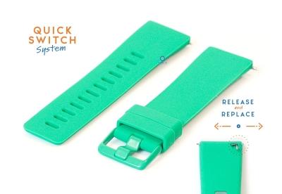 Horlogeband 23mm siliconen mintgroen