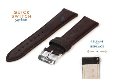 Fromanteel horlogeband leer met rubber touch