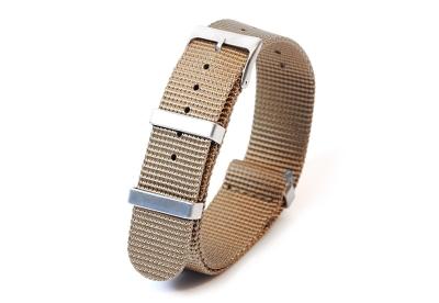 Horlogeband 20mm nylon beige