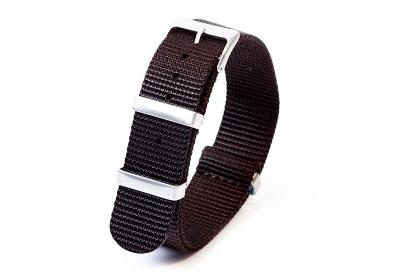 Horlogeband 20mm nylon zwart