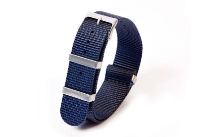 Horlogeband 20mm nylon donkerblauw