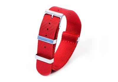 Horlogeband 20mm nylon rood