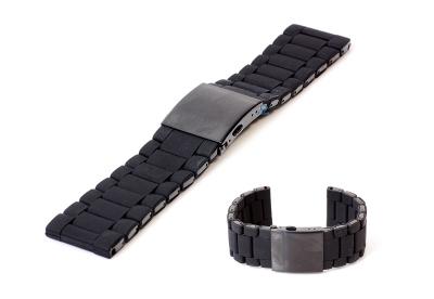 Horlogeband 28mm staal zwart