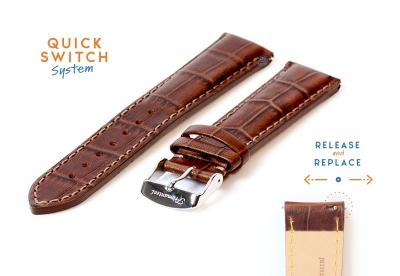 Fromanteel horlogeband croco leer bruin