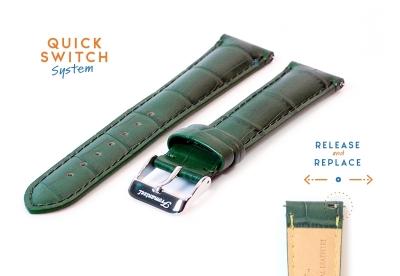 Fromanteel horlogeband croco leer groen