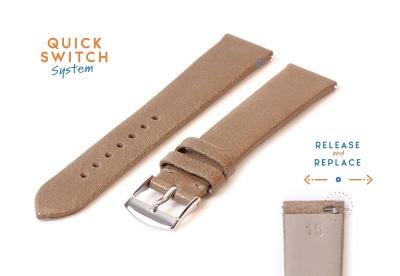 Horlogeband 16mm klei bruin kalfsleer