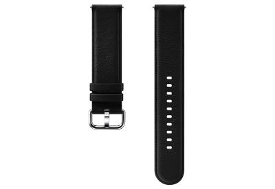 Samsung Galaxy Active 2 horlogeband leer zwart (S/M)