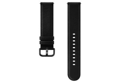 Samsung Galaxy Active 2 horlogeband leer zwart (M/L)