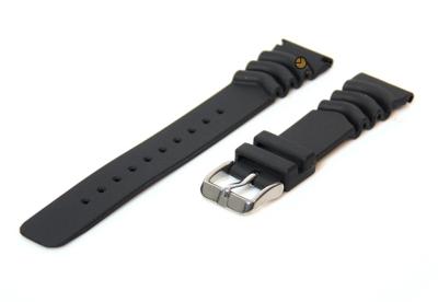 Fromanteel horlogeband zwart rubber