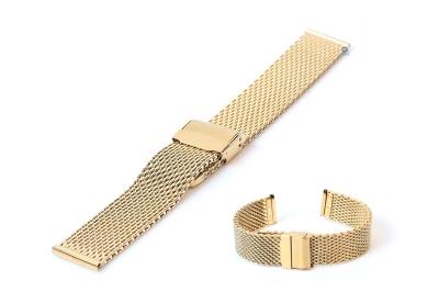 Milanese horlogeband 18mm goud (grof)