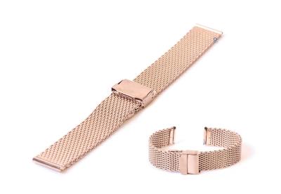 Milanese horlogeband 18mm Rosegoud (grof)