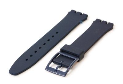 Swatch Gent horlogeband 16mm donkerblauw
