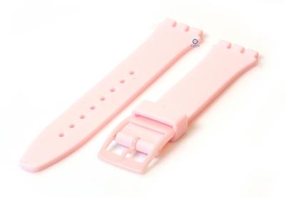Swatch Gent horlogeband 16mm lichtroze