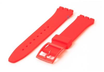 Swatch Gent horlogeband 16mm rood