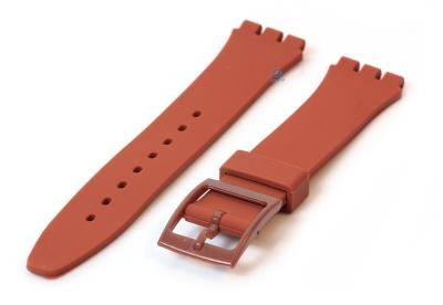 Swatch Gent horlogeband 16mm bruin