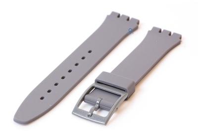 Swatch Gent horlogeband 16mm grijs