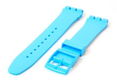 Swatch Irony Sistem51 horlogeband 20mm pastelblauw