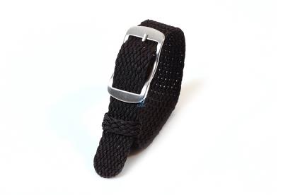 Perlon horlogeband 14mm zwart