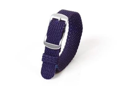 Perlon horlogeband 14mm donkerblauw