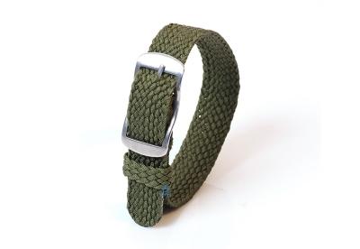 Perlon horlogeband 14mm donkergroen