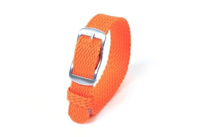 Perlon horlogeband 14mm oranje
