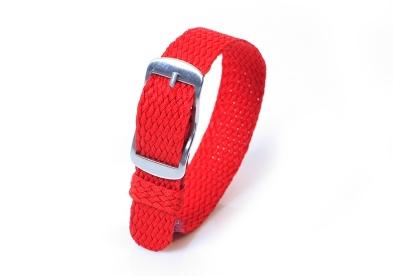 Perlon horlogeband 14mm rood