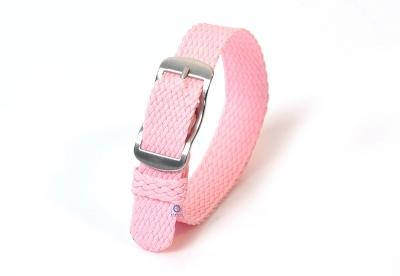 Perlon horlogeband 14mm roze