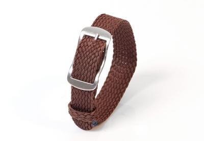 Perlon horlogeband 14mm donkerbruin