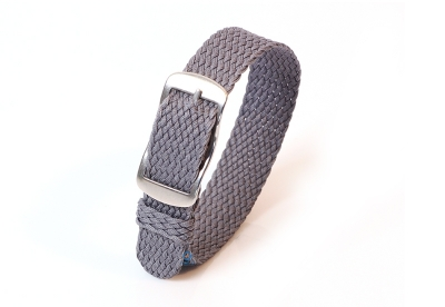 Perlon horlogeband 14mm grijs