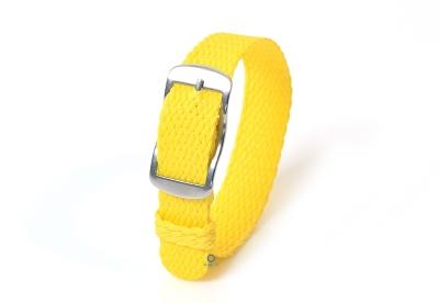 Perlon horlogeband 14mm geel