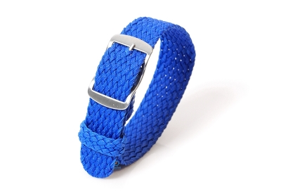 Perlon horlogeband 16mm royal blauw