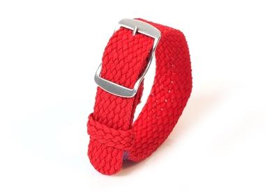 Perlon horlogeband 16mm rood
