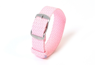 Perlon horlogeband 16mm roze