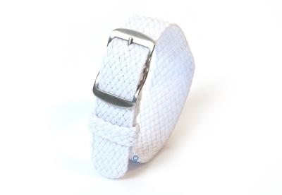 Perlon horlogeband 16mm wit